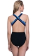 Profile Sport by Gottex Formation High Neck Cut Out Zipper X-Back One Piece Swimsuit