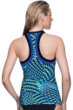 Profile Sport by Gottex Formation Zipper High Neck D-Cup Tankini Top