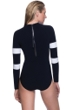 Profile Sport by Gottex Formula One High Neck Long Sleeve Zip Back One Piece Swimsuit