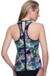 Profile Sport by Gottex Spirograph Keyhole High Neck D-Cup Underwire Y-Back Tankini Top