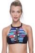 Free Sport In Tune Red Strappy High Neck Bikini Top