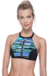 Free Sport In Tune Green Strappy High Neck Bikini Top