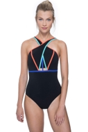 Free Sport Make Your Mark Strappy High Neck One Piece Swimsuit